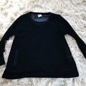 Soft Surroundings Black Velvet Pullover Tunic